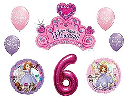 Amazon Disneys Sofia The First 6th Happy Birthday Party