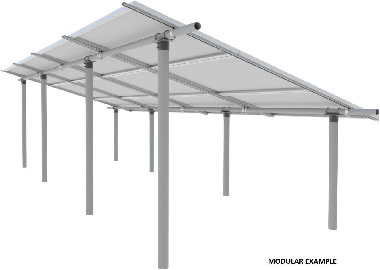 Cutting Edge Power Sistema de Soporte de Panel Solar Modular EZArray de vanguardia de Potencia de Corte, Cualquier tamaño de Panel, Cualquier cantidad, Montaje en Tubo de Suelo/Poste: Amazon.es: Jardín