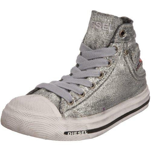 Diesel Toddler/Little Kid Magnete Exposure Sneaker ,Silver,8 M US (Diesel Baby Girl)