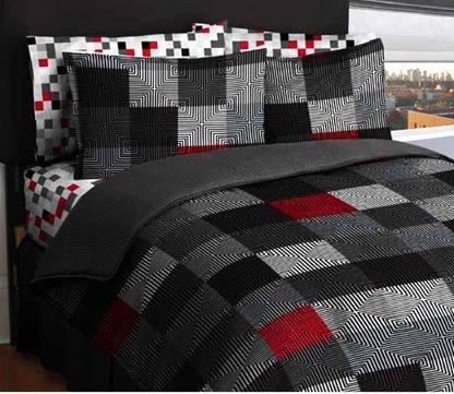Loft Living Geo Twin Blocks Bed in a Bag, Queen size