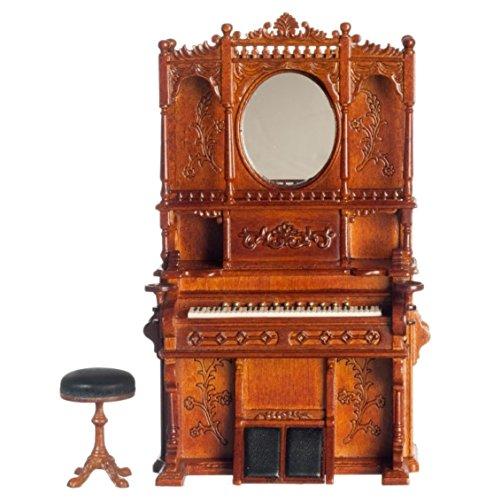 Dollhouse Miniature Victorian Organ stool Walnut #P6410 (Organ Victorian)