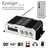 2.1CH Super Bass HI-FI Car Audio High Power Amplifier FM Radio Player Support SD/USB/DVD / MP3 with Remote Controller for Car Motorcycle Home