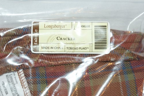 Longaberger Cracker Basket Toboso Fall Plaid Fabric Drop In Style Liner New In Bag