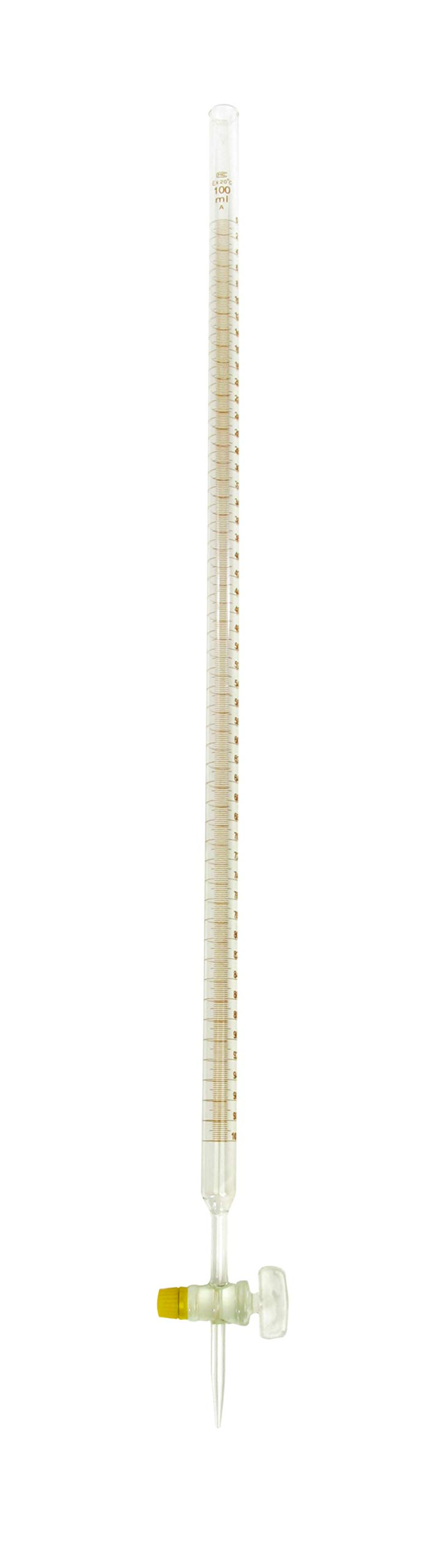 American Educational Borosilicate Glass 100mL Burette, with Ground Glass Stopcock by American Educational Products