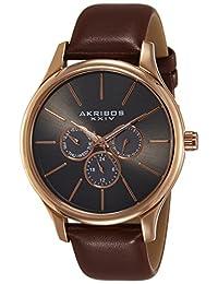 Akribos XXIV Men's AK870RG Rose Gold-Tone Stainless Steel Watch
