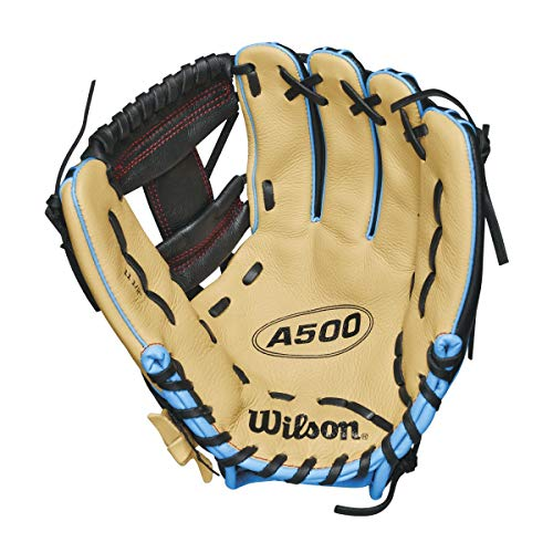 Wilson A500 11.5`` All Positions Baseball Glove Blonde/Black/Blue for sale  Delivered anywhere in USA