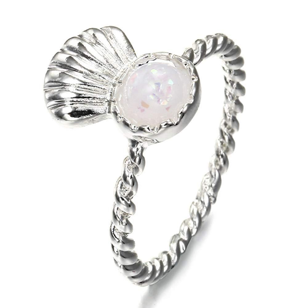 Amazon Guiyan Fashion Personality Creative Womens Scallop Engagement Birthday Gift Ring Latest Lady Girl Jewelry