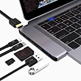"MAKETECH USB C Multi-Function Adapter Compatible 2016/2017/2018 MacBook Pro 13/15""- Thunderbolt 3 (40Gbps), 4k HDMI, Pass-Through Charging, SD/Micro Card Reader, 2 X USB 3.0 Ports (Space Grey)"