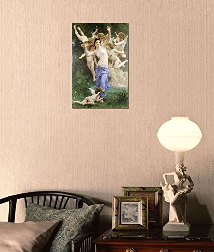 Invation by William Adolphe Bouguereau Stretched Framed 12 L X 18 W