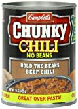 Campbell's Chunky No Bean Chili, 15 Ounce Cans (Pack of 12)