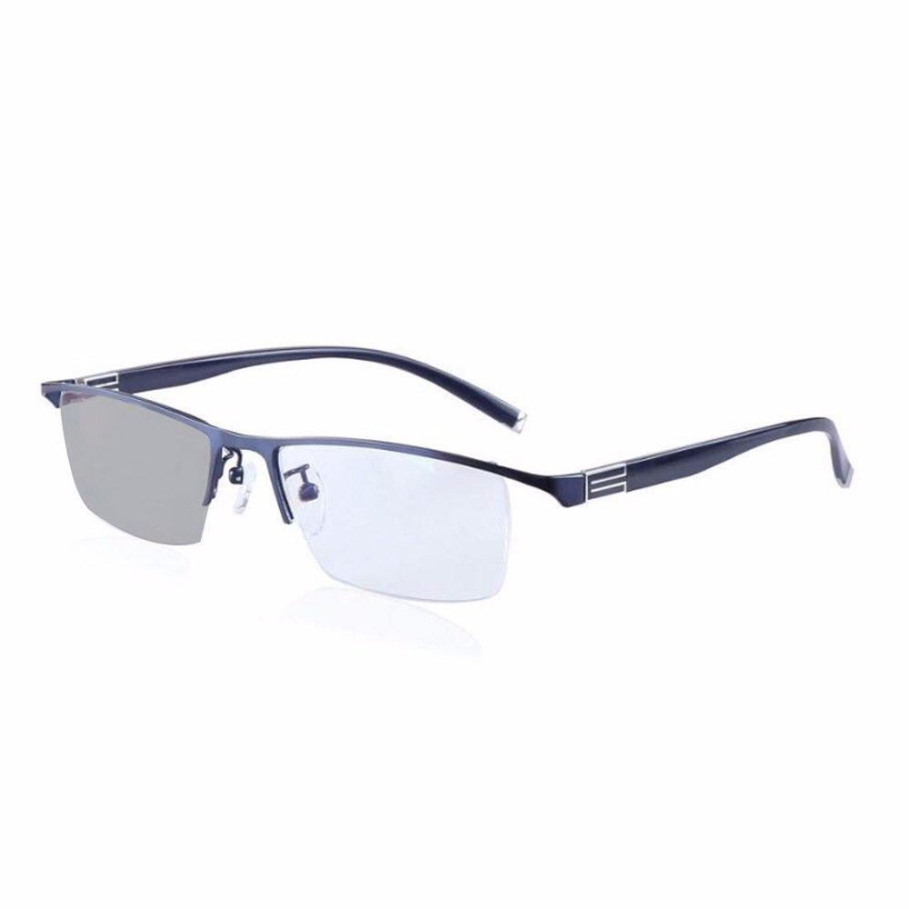 09b25771aa Amazon.com  Transition Photochromic Prescription Eyeglasses Myopia  Hyperopia Reading Glasses Custom Strength -Rx +Rx Metal Frame Sunglasses   Health ...