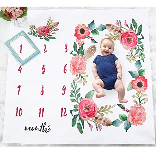 Blanket - Baby Born Infants Blanket Mat Soft Cute Photography Prop Monthly Growth Photo - Stuffed Foal Women Extra Jacket Twin Wall Milestone White Large Native Name Personalized Wear Roo