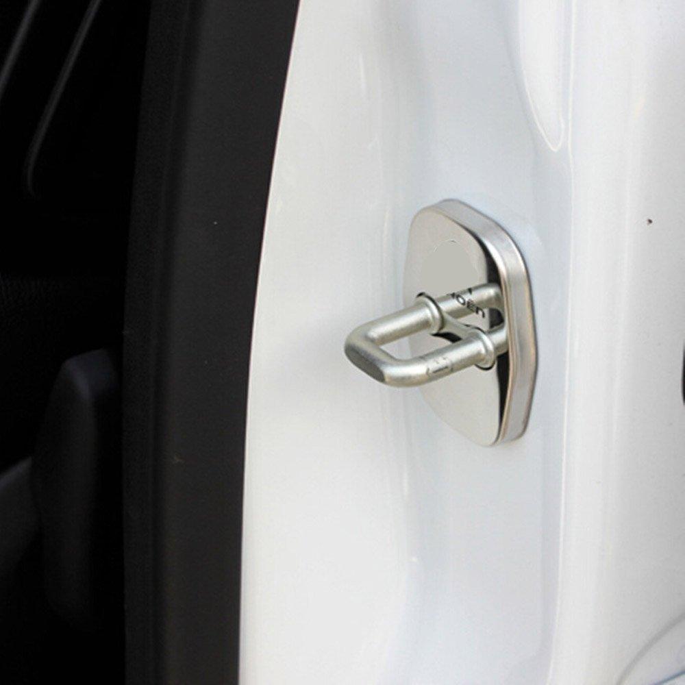 PolarLander 4pcs Impermeable Puerta del Coche Bloqueo de Botones de Puerta Bloqueo de la Cubierta de la decoraci/ón de la Tapa Accesorios Auto