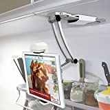 Kitchen Tablet Mount Stand iKross 2-in-1 Kitchen Wall/CounterTop Desktop Mount recipe Holder Stand For 7 to 13 Inch Tablet fits 2017 iPad Pro 12.9/9.7/Air/Mini, Surface Pro, Nintendo Switch