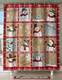 Snowman Shower Curtain Collections Etc Snow Time Country Snowman Shower Curtain