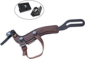 SpiderPro Padded Hand Strap for Cameras (Kodiak) with Optional Snap-On Wrist Strap Included w/ 2 Ivation Quick Release Plates for The Manfrotto RC2 Rapid Connect Adapter