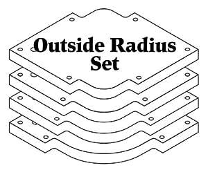 Woodhaven 3650 Outside Radius Set - Router Templates - Amazon.com