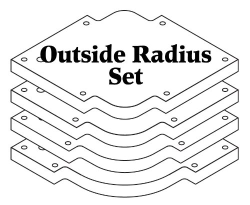 Woodhaven 3650 Outside Radius Set (Guide Router Template Use)