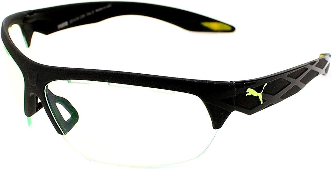 c0341b70e5 Amazon.com  Puma 0001S 002 Black 0001S Wrap Sunglasses Golf