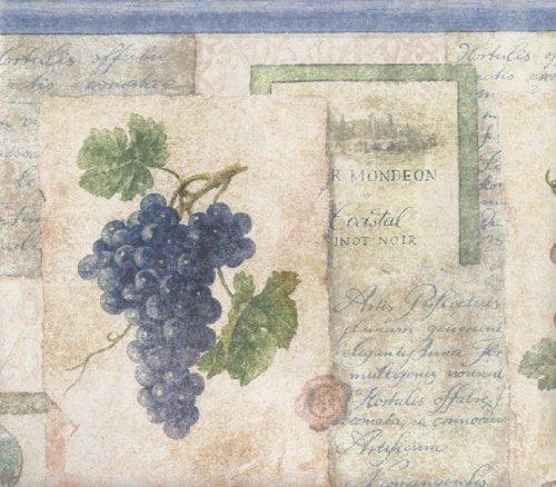 wine and grape border - 3