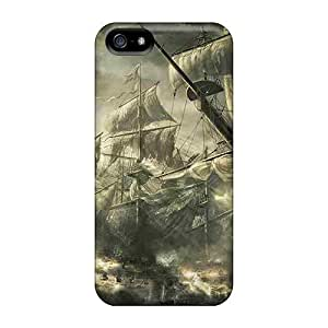 New ZAi1184VWVu Pirate Ships Tpu Cover Case For Iphone 5/5s