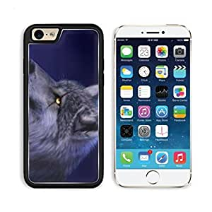 Animal Wildlife Wolf Scar Night Howl Moon Cold Gray Apple iPhone 6 TPU Snap Cover Premium Aluminium Design Back Plate Case Customized Made to Order Support Ready Luxlady iPhone_6 Professional Case Touch Accessories Graphic Covers Designed Model Sleeve HD Template Wallpaper Photo Jacket Wifi Luxury Protector Wireless Cellphone Cell Phone