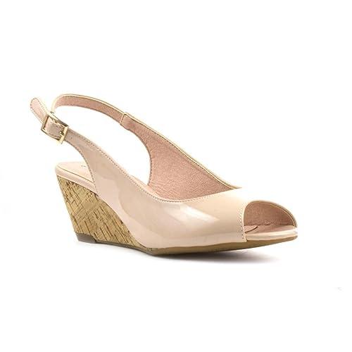 Sandalias Plus Para De Sintético Comfort Vestir Material Mujer m8nvN0w