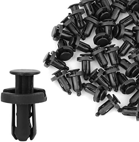 uxcell 50pcs Plastic Rivets Screw Fender Body Door Trim Hood Clips Black 10mm for SUV