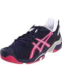 ASICS Women's Gel Resolution 4 Tennis Shoe,Eclipse/Beetroot Purple/Lightning,12 M US