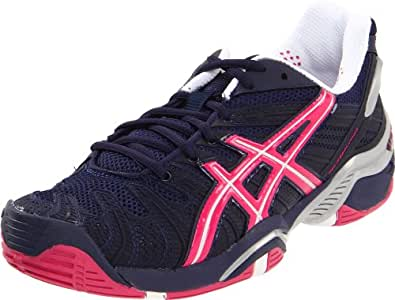 ASICS Women's Gel Resolution 4 Tennis Shoe,Eclipse/Beetroot Purple/Lightning,9.5 M US