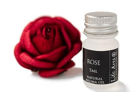 Profumo Aceite de aroma Rosa Botella de 5cc Fragancia Natural (4cm x 2cm)