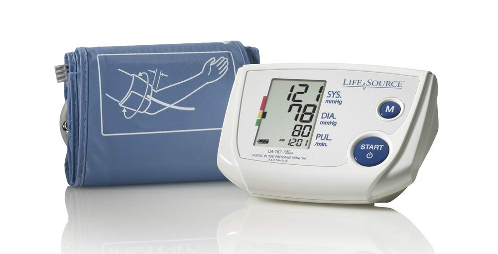 LifeSource Upper Arm Blood Pressure Monitor with Small Cuff (UA-767PVS) by LifeSource