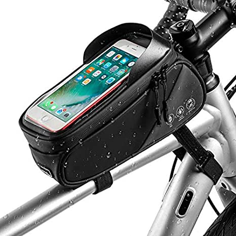 Zealhot Bike Front Frame Bag Waterproof Bicycle Phone Bag Top Tube Bicycle Frame Phone Holder Bike Bag 6 5 Touch Screen Cycling Cellphone Accessories For Iphone Xs Max Amazon Co Uk Sports Outdoors