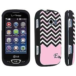 DuroCase ? LG Extravert 2 Hard Case Black - (Black Pink White Chevron E)