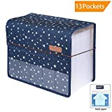 Filing Folders with Cover 13 Pockets, Expanding Files Folder/Storage Expander Wallets,Large Space A4 Expandable Organizers Accordion,Office Business School Document with Tab