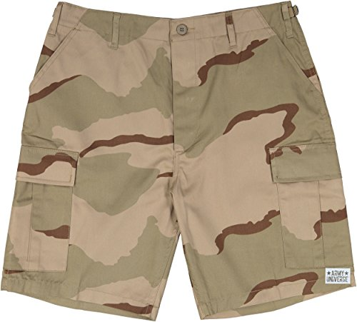 (Army Universe Tri-Color Desert Camouflage Military BDU Cargo Shorts Pin Size Medium (Waist 31-35