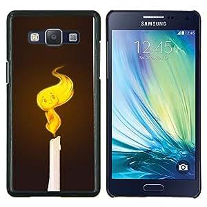 LECELL--Funda protectora / Cubierta / Piel For Samsung Galaxy A5 A5000 -- Vela linda Llama --