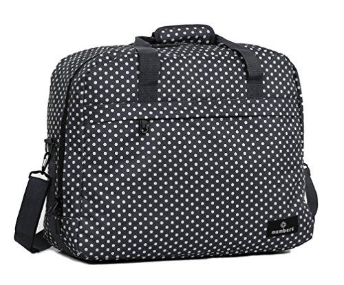 Bag Travel Holdall 40 Black Shoulder On Polka Board Members Purple cm Ryanair x 20 Essential 55 Compliant x RqtXwAF
