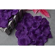 Wento 2,000PCS Purple Silk Rose Petals Wedding Flower Decoration,Part Wedding Decoration,Heart Shaped Silk Rose Petals (Purple)