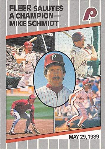 Mike Schmidt baseball card (Philadelphia Phillies) 1989 Fleer Update #U131 Retirement Tribute