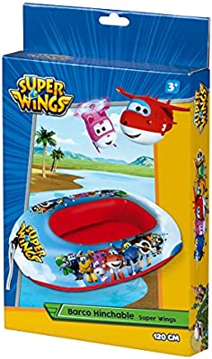 Super Wings - Barca hinchable, 120 cm (77032)