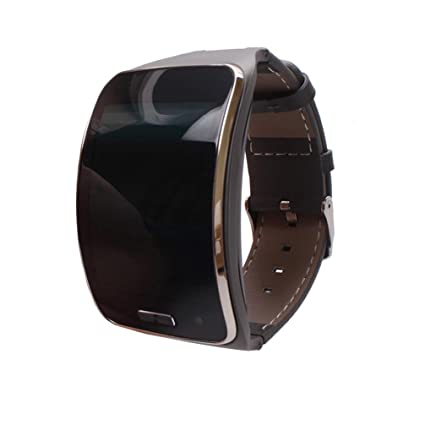 For Samsung Gear S SM-R750 Accessiory,Kshion®Genuine leather Watch Wrist Strap Replacement Band for Samsung Gear S SM-R750 Smart watch