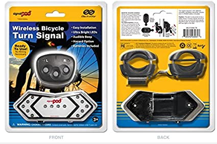 Wireless Bicycle Turn Signal Safety Cycle Accessory Lights Reflector
