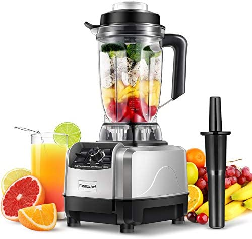 AMZCHEF Blender Smoothie Maker, 1500W Professional Smoothie Blender with 10 Adjustable Speeds, 6 Sharp Blades and 2L BPA-Free Tritan Container, Powerful 26000 RPM High Speed [Energy Class A+++]