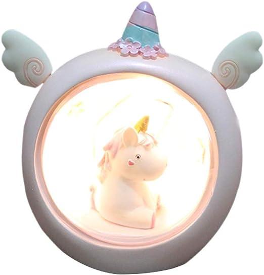 Ruiting Lámpara Unicornio LED Unicornio Luminoso Lámpara de Mesa ...