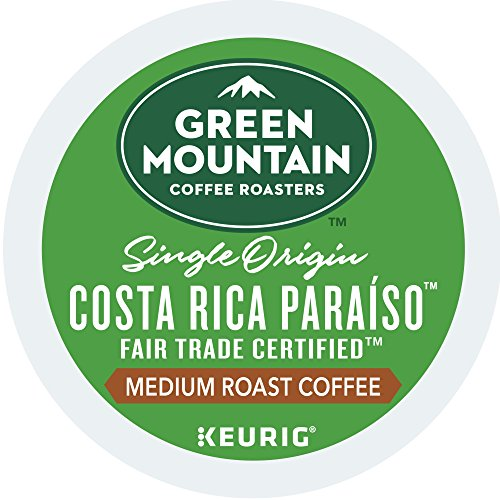 e Roasters Costa Rica Paraiso Keurig Single-serve K-cup Pods, Medium Roast Coffee, 72 Count (6 Boxes of 12 Pods) (Costa Rica Fruits)