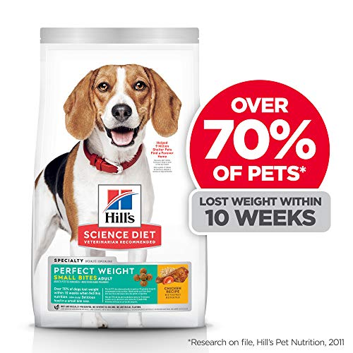 Hill's Science Diet Dry Dog Food, Adult, Small Bites, Perfect Weight for Weight Management, Chicken Recipe