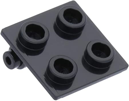 20 NEW LEGO Hinge Brick 2 x 2 Top Plate Thin Black