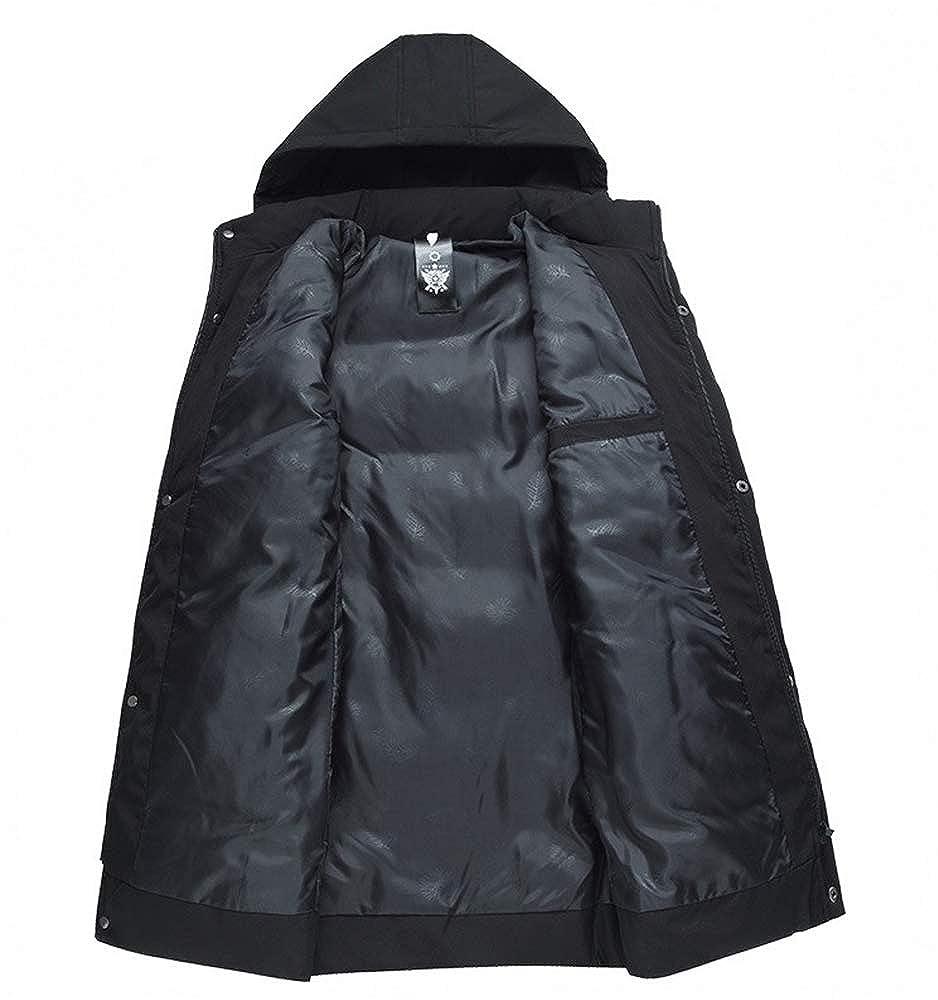 CXWLK Vestes d'hiver Matelassées en Coton Épais pour Hommes avec Cagoule pour Hommes Black