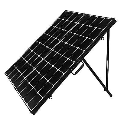 Renogy 50W 12V Micro Eclipse Monocrystalline Portable Solar Panel Built-in Kickstand